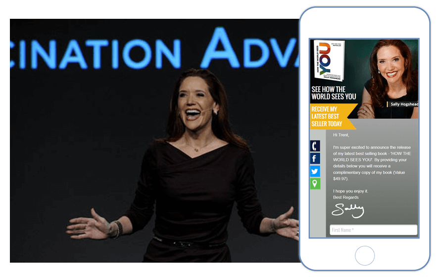 Sally Hogshead on stage